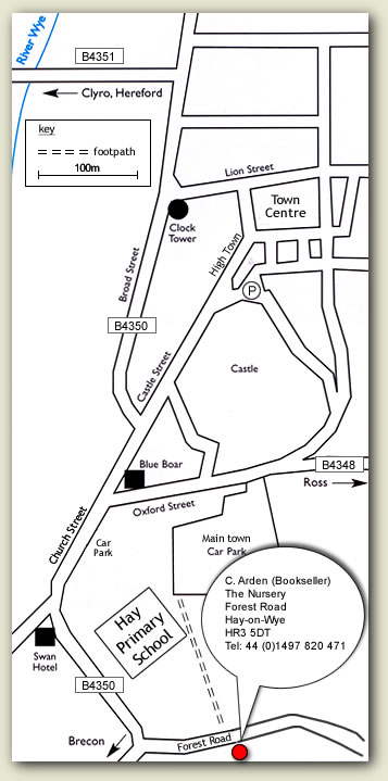 map of Hay-on-Wye