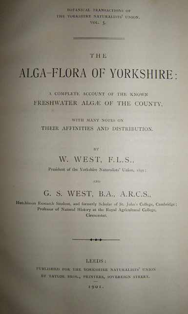 The Alga-Flora of Yorkshire.