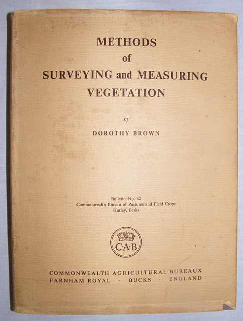 Methods of Surveying and Measuring Vegetation.