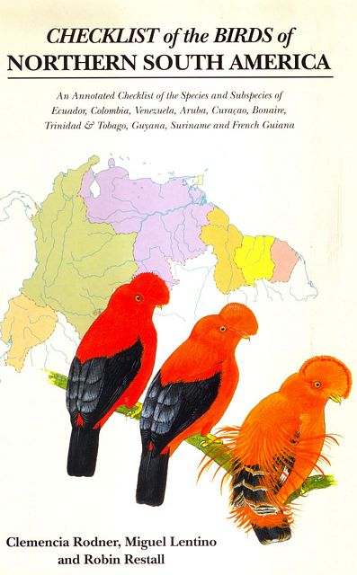 Checklist of the Birds of Northern South America.