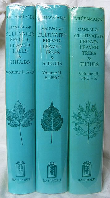 Manual of Cultivated Broad-Leaved Trees and Shrubs.