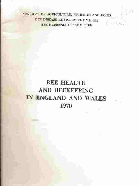 Bee Health and Beekeeping in England and Wales.