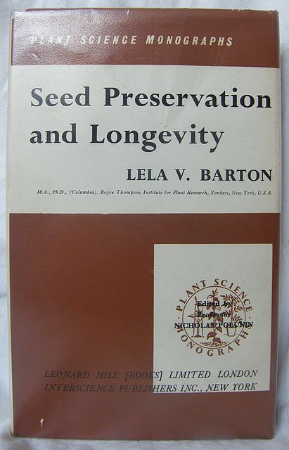 Seed Preservation and Longevity.