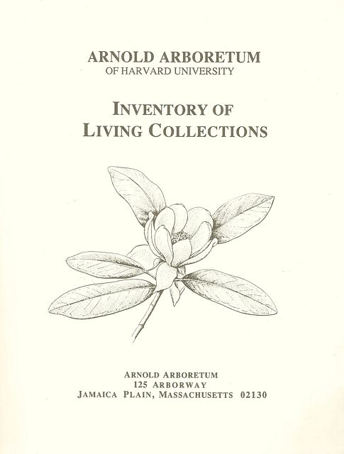 Inventory of Living Collections.