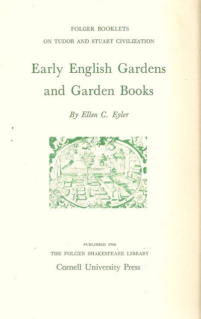 Early English Gardens and Garden Books.