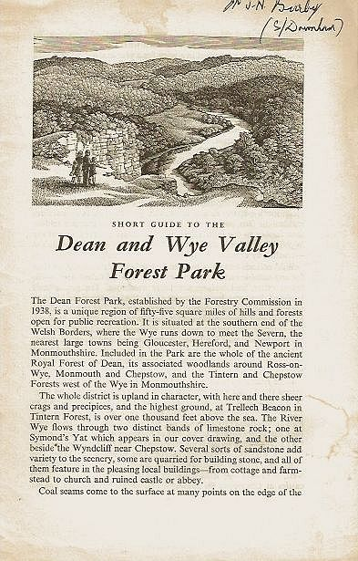 Short Guide to the Dean and Wye Valley Forest Park.