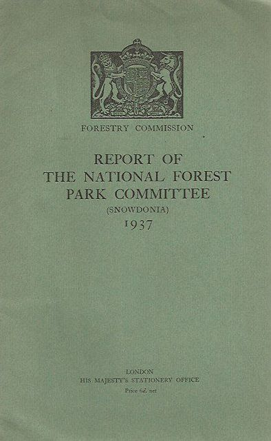 Report of The National Forest Park Committee (Snowdonia) 1937.