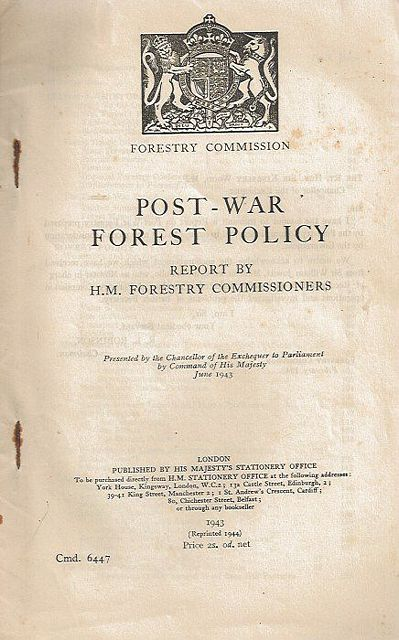 Post-War Forest Policy.