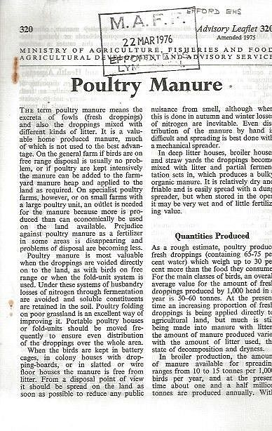 Poultry Manure.