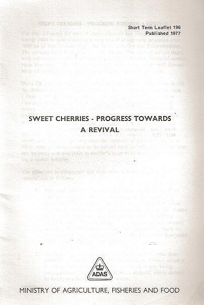 Sweet Cherries - Progress Towards A Revival.