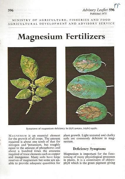 Magnesium Fertilizers.
