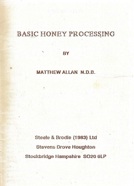 Basic Honey Processing.