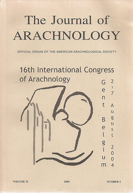 [Proceedings of the] 16th International Congress of Arachnology.