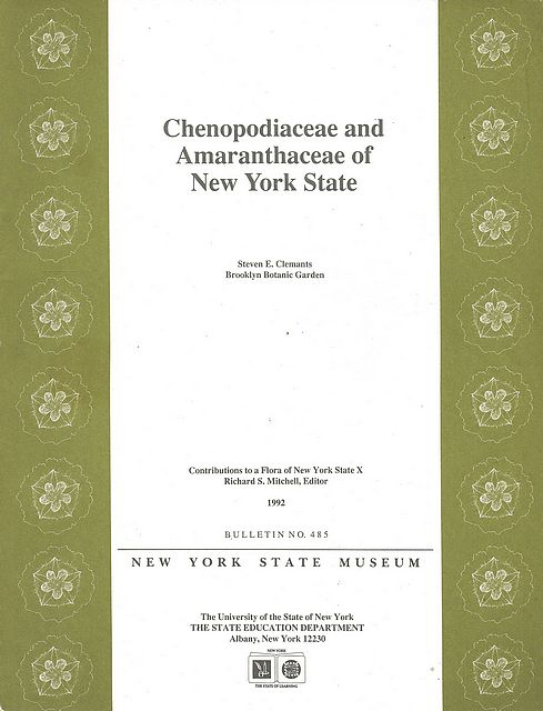 Chenopodiaceae and Amaranthaceae of New York State.