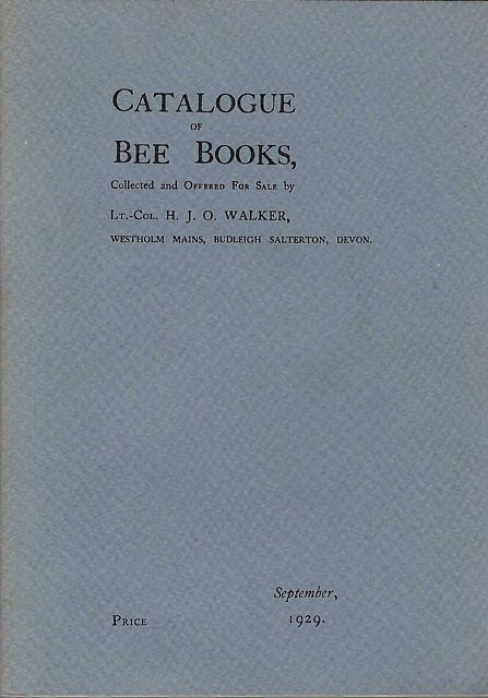 Descriptive Catalogue of a Library of Bee Books.